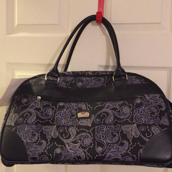 Gloria Vanderbilt Bags New Travel Tote Wheels Poshmark